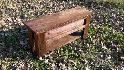 Custom Made Authentic Montana Made Barnwood Bench