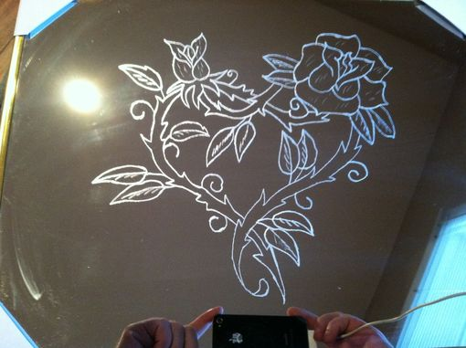 Custom Made Etched Mirror