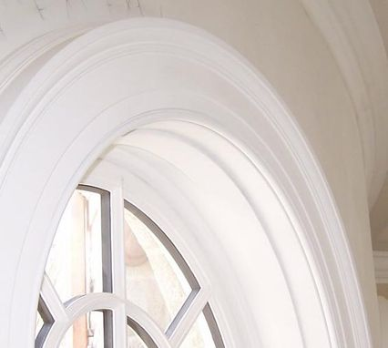 Custom Made Half Round Windows In A Curved Wall