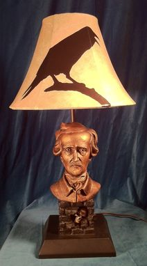 Custom Made Literary Lamps-Edgar Allan Poe