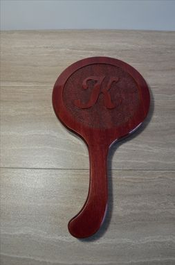 Custom Made Custom Hand Mirror With Personalized Carving