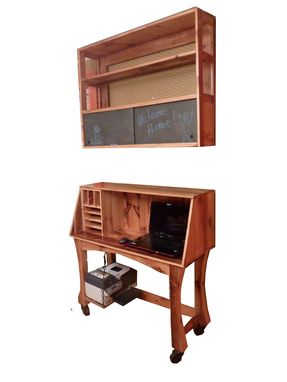 Custom Made Rosenthal Desk And Bookcase