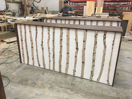 Custom Made Birch Wooden Bar