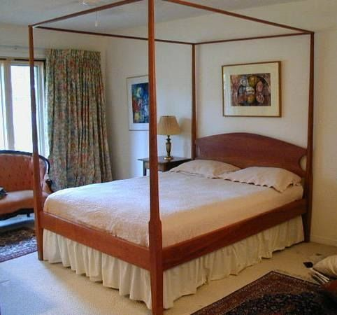 Custom Made Cherry Queen Size Pencil Post Bedframe Bed