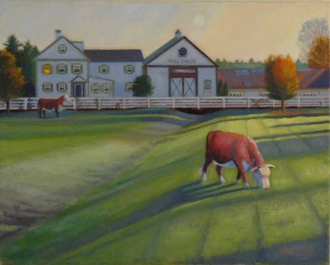Custom Made Oil Painting Of Farm House