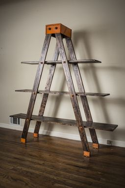 Custom Made Industrial Ladder Shelf