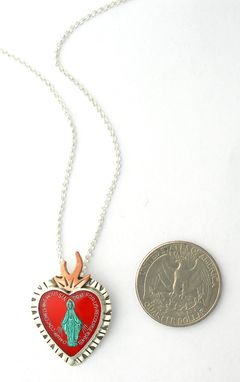 Custom Made Virgin Mary Necklace, Sacred Heart Necklace, Virgin Guadalupe
