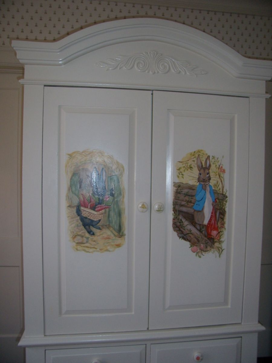 Custom Made Decorative Armoire For A Girls Nursery By