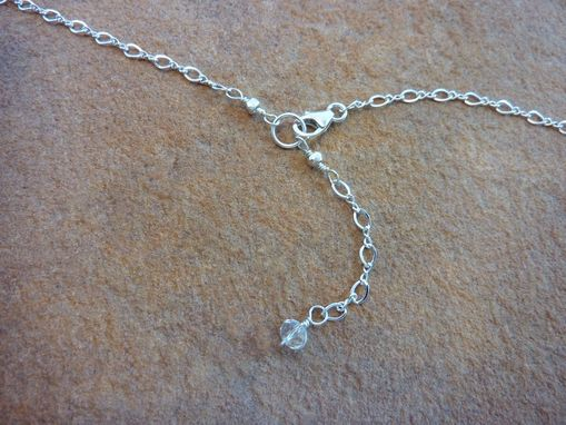 Custom Made Fiery Moonstone Wire-Wrapped On Sterling Silver Chain
