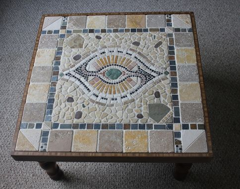 Custom Made 'All Knowing Eye'  End Table