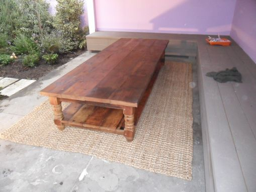 Custom Made Large Pot Board Coffee Table