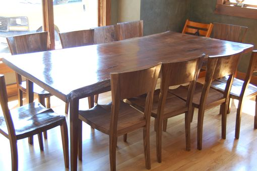 Custom Made Black Walnut Dining Set