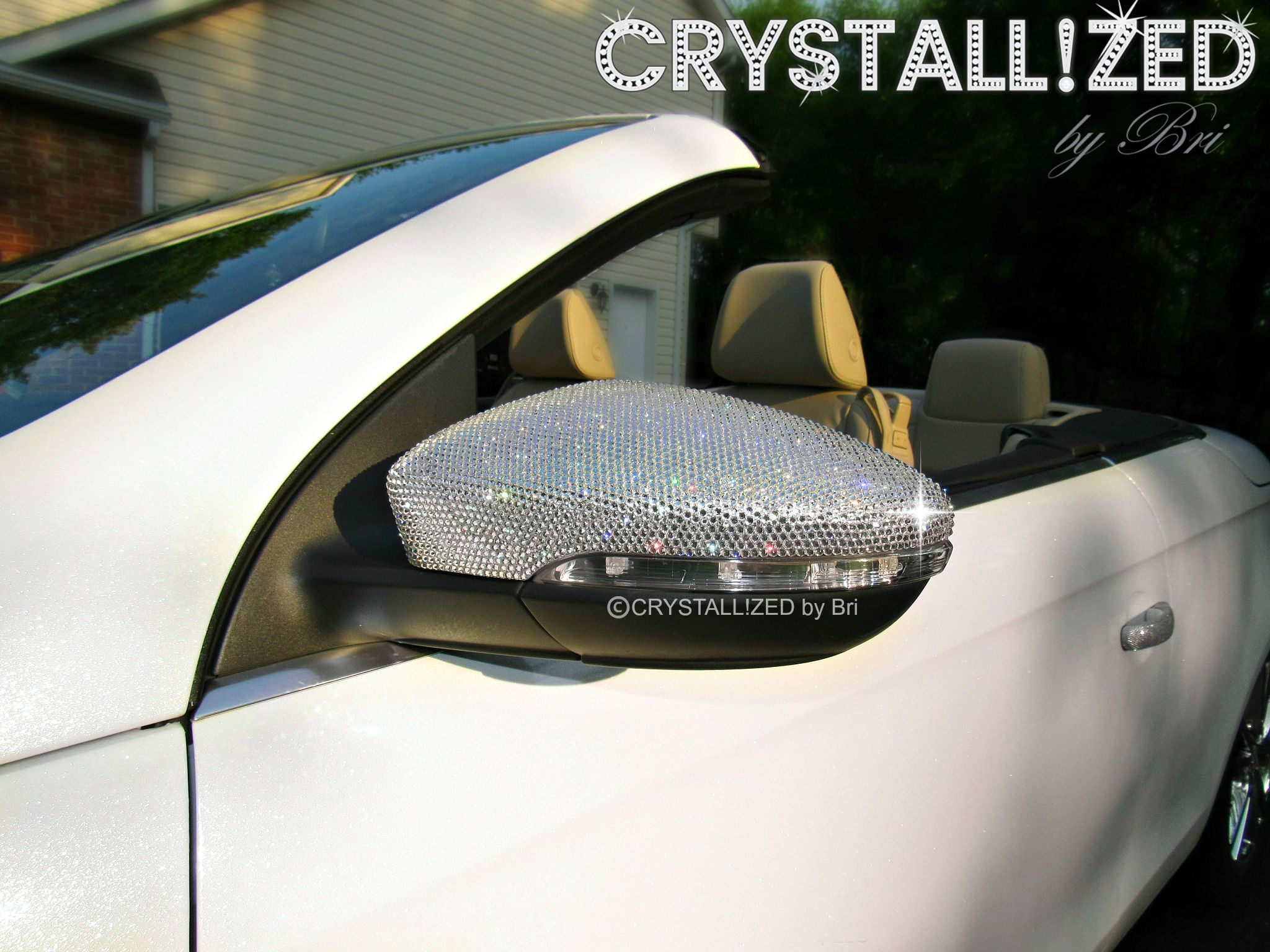 Buy A Custom Crystallized Car Side Mirror Caps Made With
