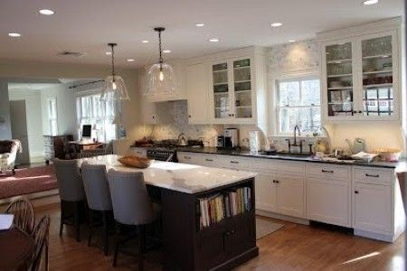 Custom Made White Shaker Kitchen With Inset Doors And Custom Island