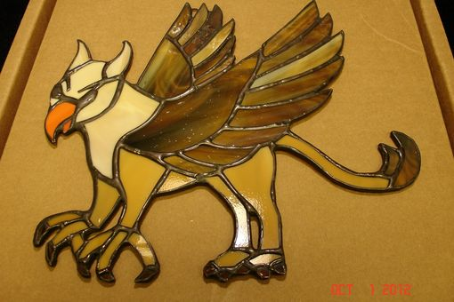 Custom Made Griffin Stained Glass Suncatcher - Made To Order