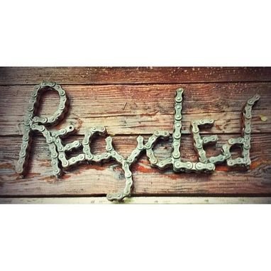 Custom Made Chain Art Sign By Raymond Guest Signage