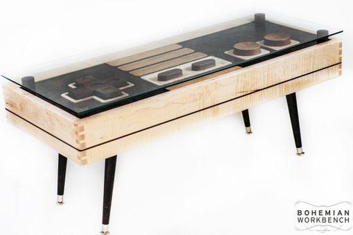 Custom Made Nintendo Controller Coffee Table Maple / Walnut - Functional