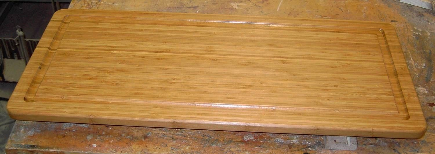 custom large bamboo cutting board by k h gunderson. Black Bedroom Furniture Sets. Home Design Ideas