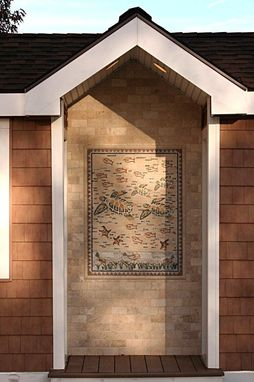 Custom Made Outdoor Installation Of Mosaics