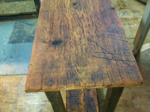 Custom Made Reclaimed Pine Hall Table / Live Edge