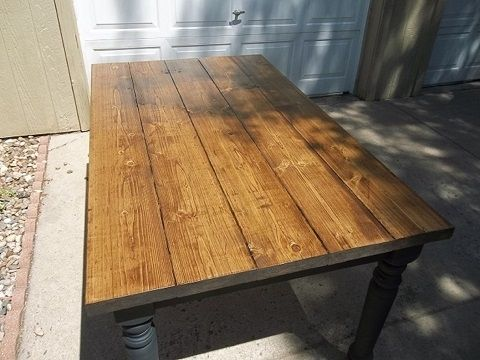 "Custom Made 60"" X 36"" Country Farm Dining Table"