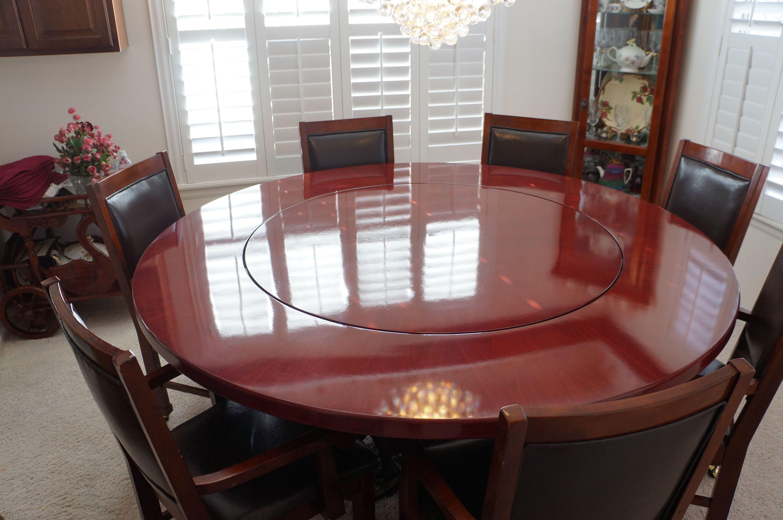Custom Made Purple Heart Dining Table