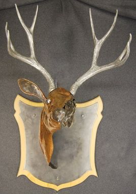 Custom Made Abstract Wall Mounted Deer Head Sculpture