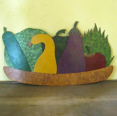 Custom Made Metal Kitchen Wall Hanging Art Vegetable Decor