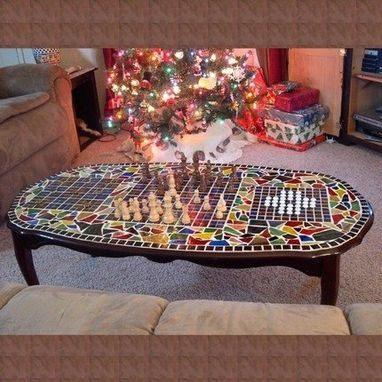 Custom Made Mosaic Game Table