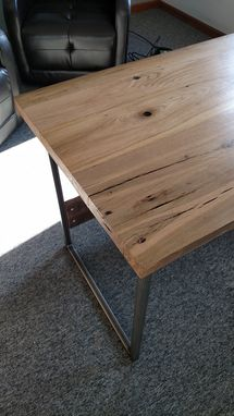Custom Made Reclaimed Wood And Steel Desk