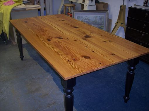 Custom Made Reclaimed Antique Pine Table