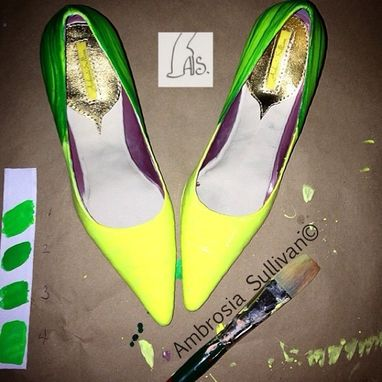 Custom Made Hand Painted Shoes