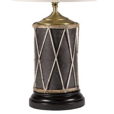 Custom Made Vintage Primitive Drum Lamp