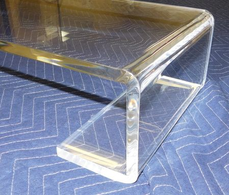 Custom Made Acrylic Pc Monitor Stands / Risers, Hand Crafted To Any Size Or Style - Lighted Option