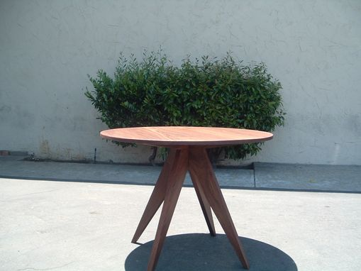 Custom Made Solid Black Walnut Modern Table