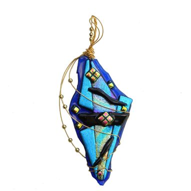 Custom Made Fused Dichroic Glass Pendant