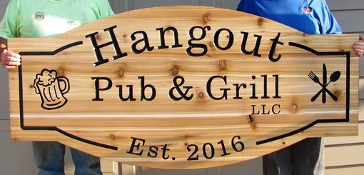Custom Made Cedar Custom Sign