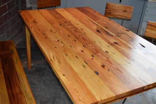 Custom Made Heart Pine Dining Set