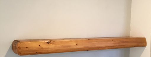 Custom Made Rough-Hewn Floating Shelf