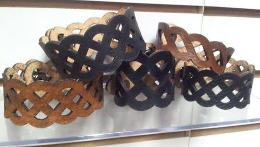 Custom Made Laser Cut Leather Wrist Cuffs