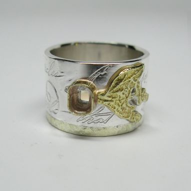 Custom Made Ralph's Rilke Poem And Herb Ring