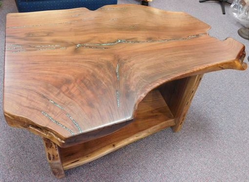 Custom Made Stumpy Walnut Coffee Table