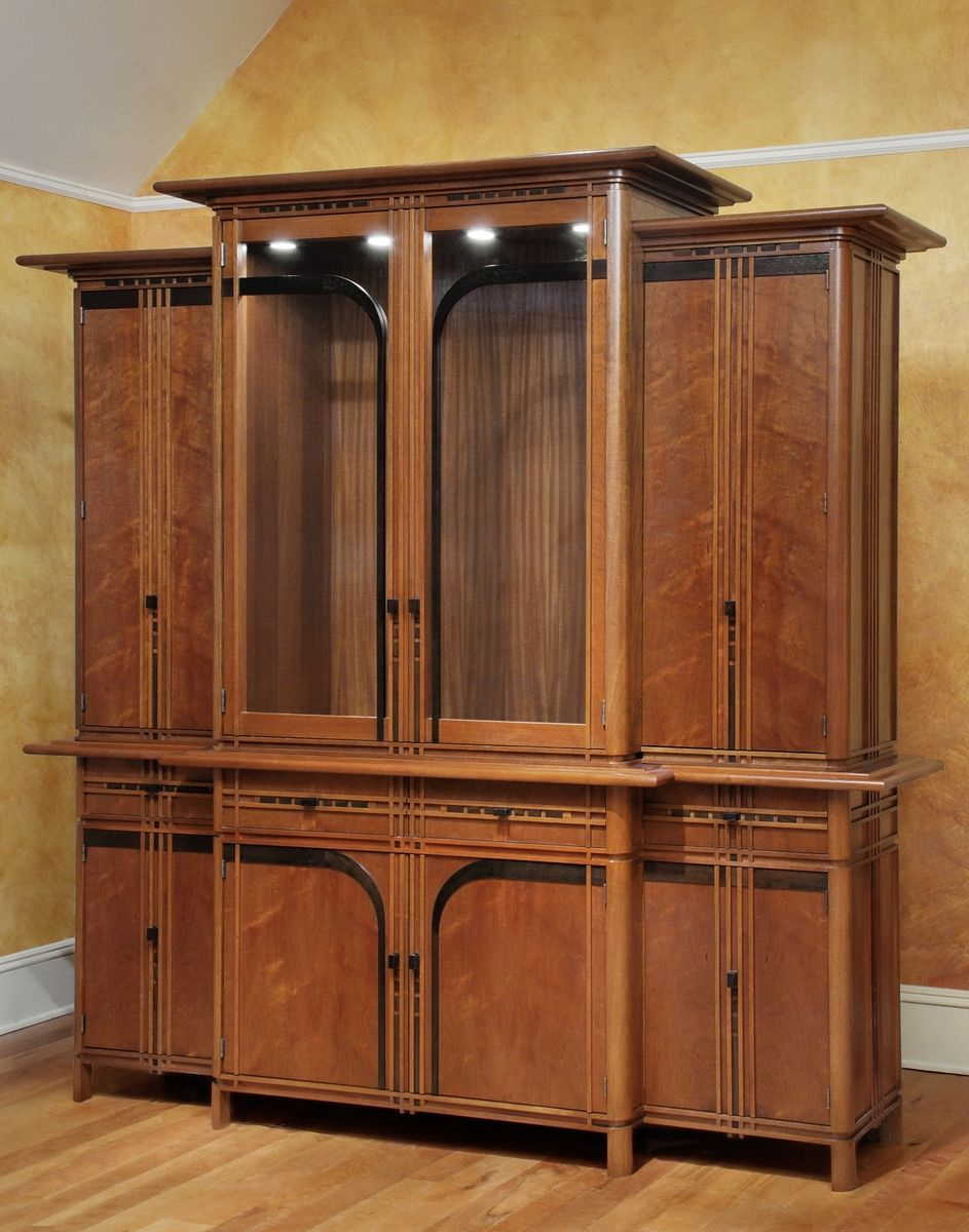 Hand Crafted Barb's Art Deco China Cabinet by Holman Studios ...