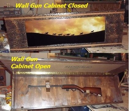Custom Made Hide A Gun Picture Frame For A Shotgun By North Lodge