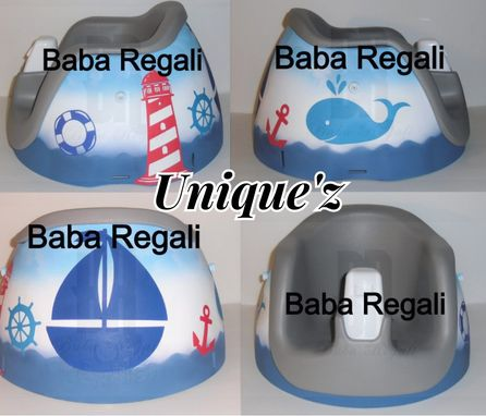 Custom Made Nautical Booster Seat (Regalo Booster Chair)