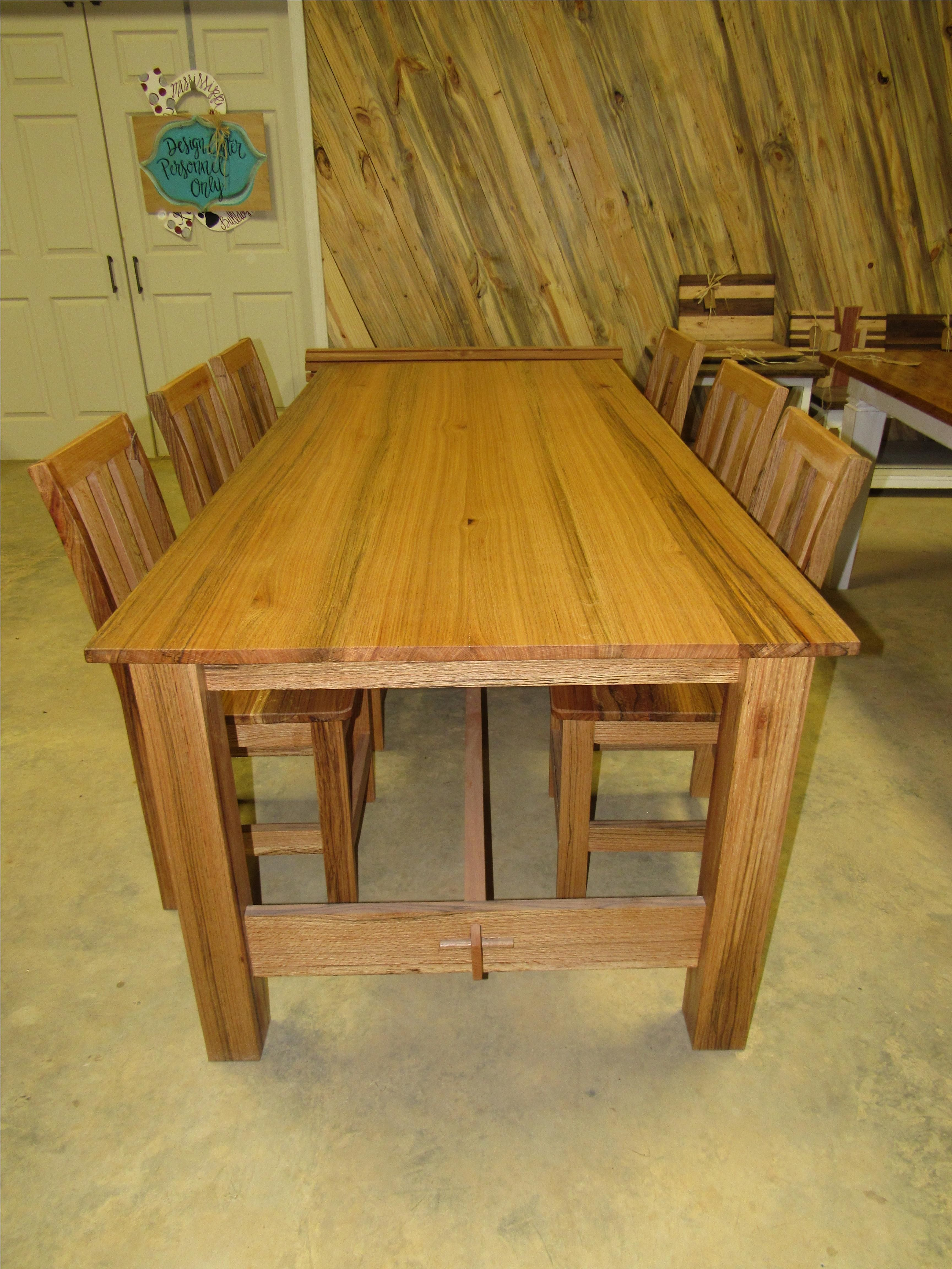 Custom Made Quarter Sawn Red Oak Dining Set