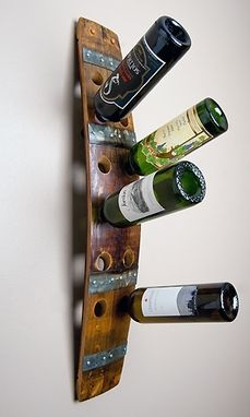 Custom Made Double Stave Wine Wall Rack