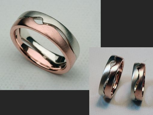 Custom Made Two-Tone, Bicolor Open Canyon Rings