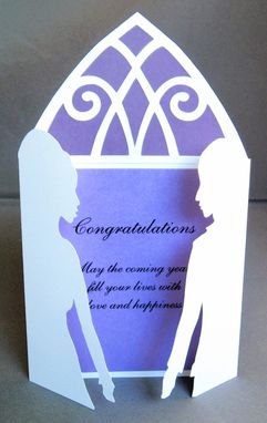 Custom Made Wedding Silhouette Custom Greeting Card - Cut Paper Silhouette Art