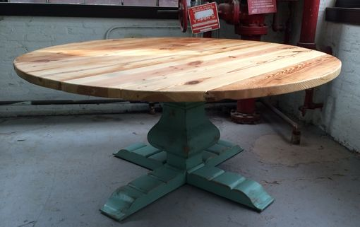 Custom Made Round Urn Pedestal Table